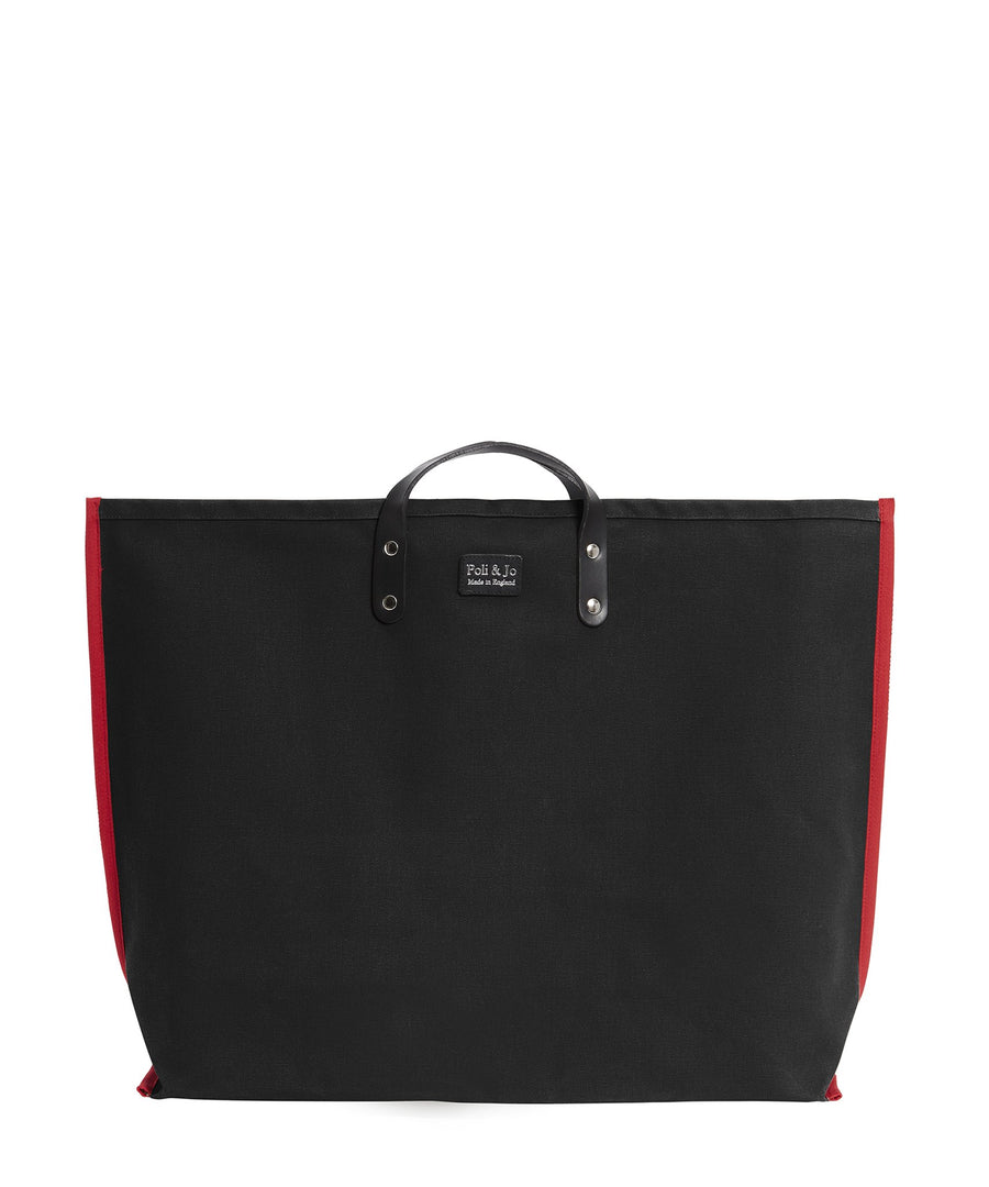 S3D3 LARGE BLACK CANVAS TOTE - Poli & Jo