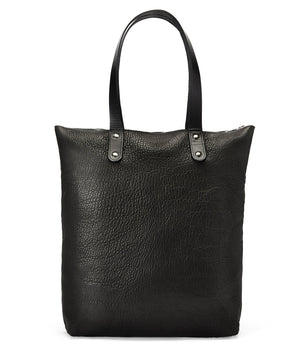 BLACK NEW ZEALAND SHEEPSKIN LEATHER ROBYN BACKPACK