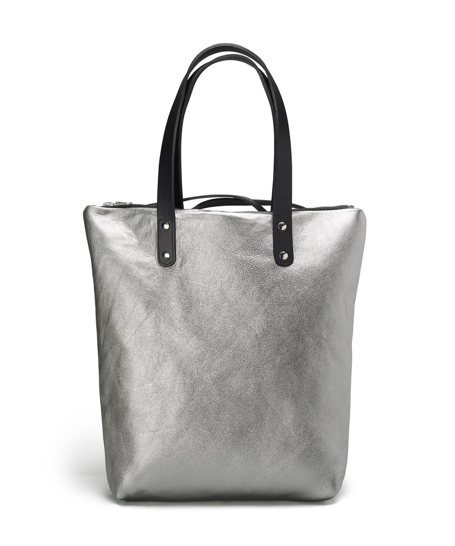SILVER LEATHER ROBYN BACKPACK