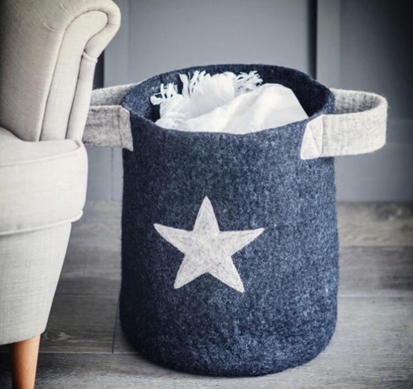 Basket with Star Print