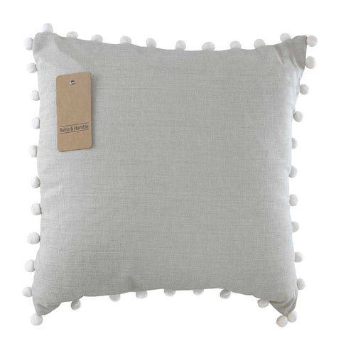 Pom Pom Cushion Chambray