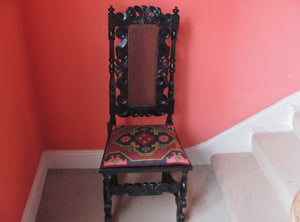 17th century style hall chair countryhousefineart