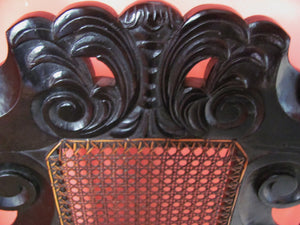 17th century style antique hall chair