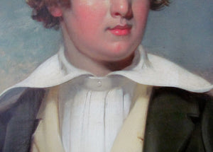 19th century portrait young man Circle of Thomas Jones Barker