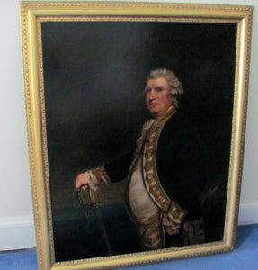 19th century portrait navy officer  keppel after Joshua Reynolds