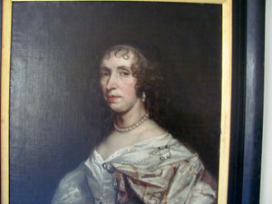 18th century antique portrait of an aristocratic lady,follower peter lely .