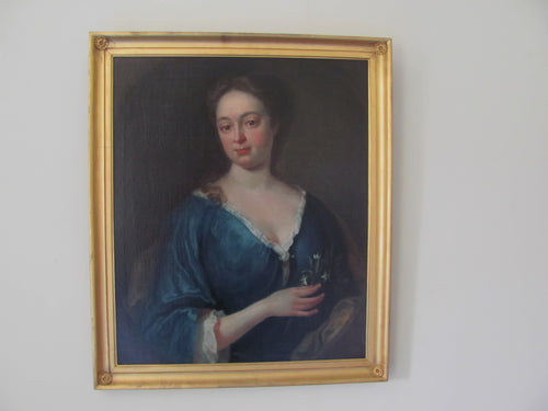 18th century portrait  circle William Aikman of aristocratic lady countryhousefineart