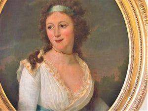 18th/19th century antique Portrait Duchess of Cleveland  attributed to Domenico Pellegrini