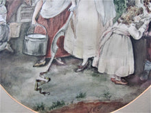 19th century Victorian genre landscape/portrait  milk maids farm