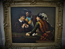 caravaggio card sharp oil 19th century
