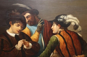 "19th Century portrait after caravaggio ""The Card Sharps"""
