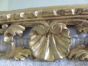 antique 19th century  Florentine wall mirror carved giltwood