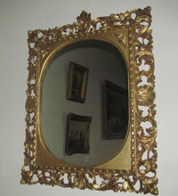 antique 19th century florentine wall mirror