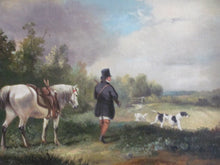 landscape 19th century hunting shooting scene Follower Julius Caesar Ibbotsen