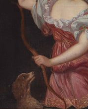18th century portrait of lady as Diana the Huntress follower Godfrey Kneller