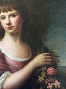 "Nathaniel Hone, portrait of ""flora"" roman goddess, 18th century"