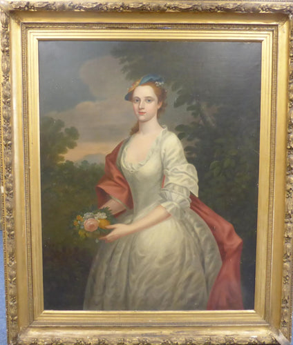 19th century antique portrait godfrey kneller lady