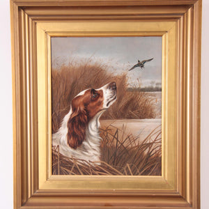 springer spaniel dog oil wheeler