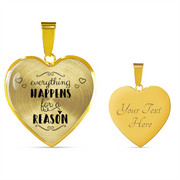 Everything Happens For A Reason Heart Necklace - Jewelry - Flexis Fitness