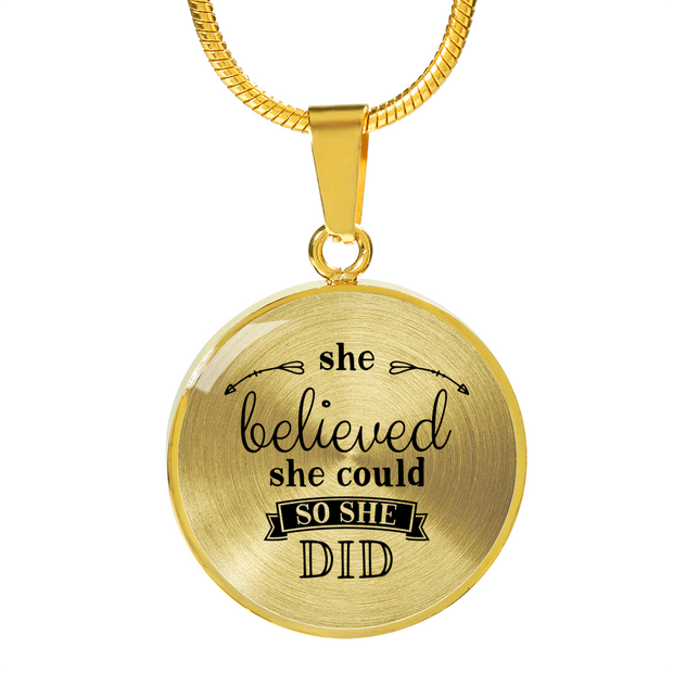 She Believed Necklace - Jewelry - Flexis Fitness