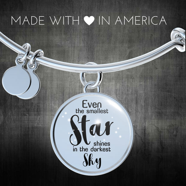 Shine In The Darkest Sky Bangle - Jewelry - Flexis Fitness