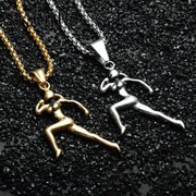 Gold/Silver Athlete Necklace - Funny Gear - Flexis Fitness