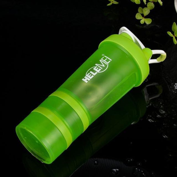 Dual-Mixer Water Bottle - Workout Gear - Flexis Fitness