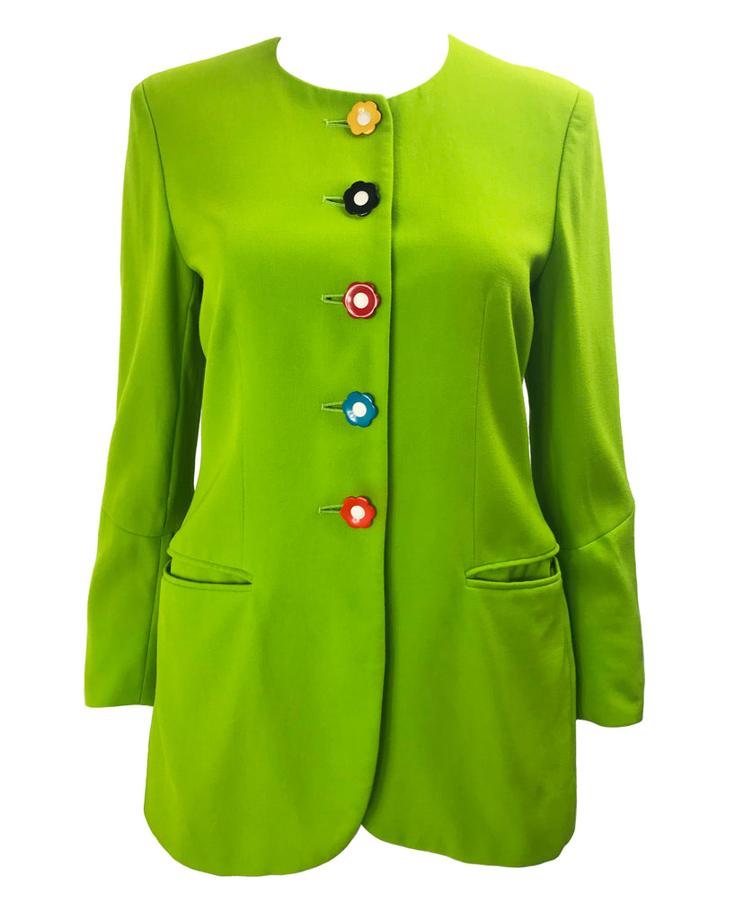 Moschino 1990s Mod Green Jacket