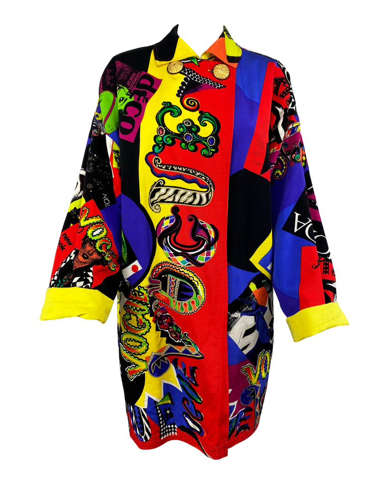 Gianni Versace 1991 Vogue Runway Coat