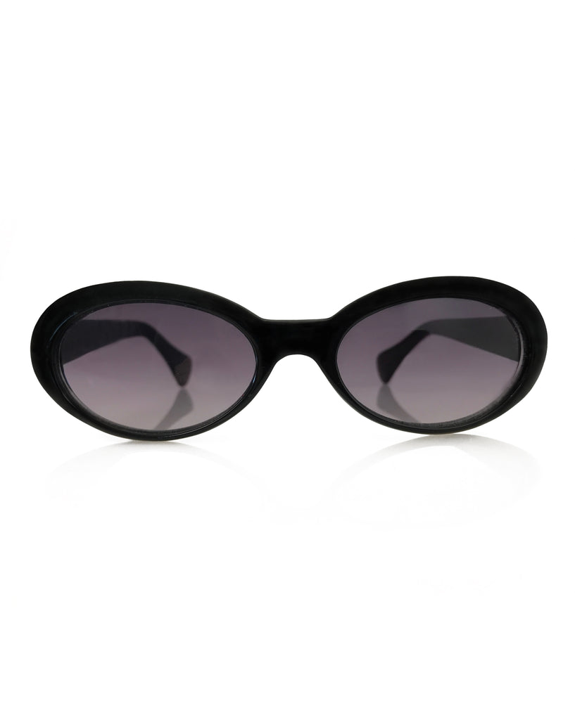 FRUIT Vintage Gucci 1990s Black Small Oval Sunglasses