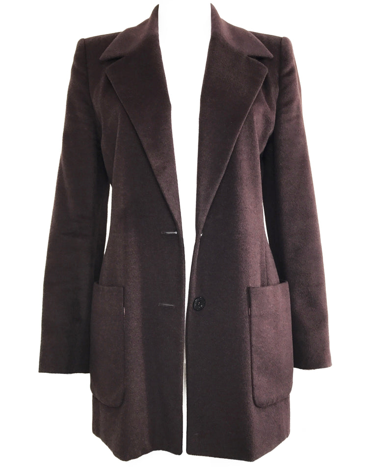 Celine 1980s Brown Blazer