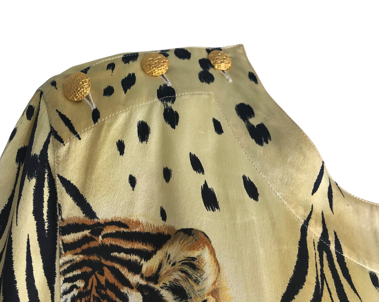 Fruit Vintage Escada 1980s Animal Print Blouse