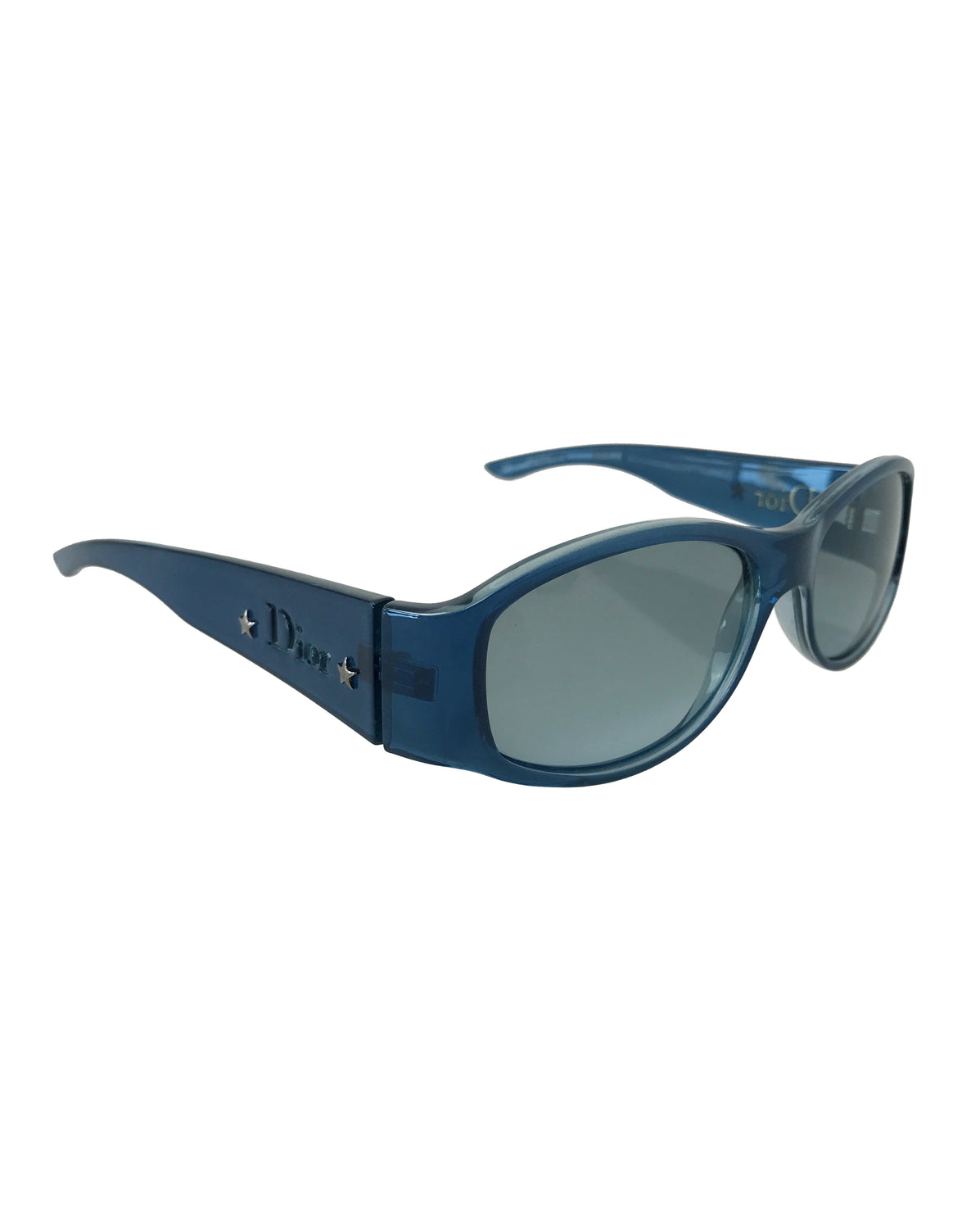 FRUIT Vintage Christian Dior 1990s Blue translucent sunglasses