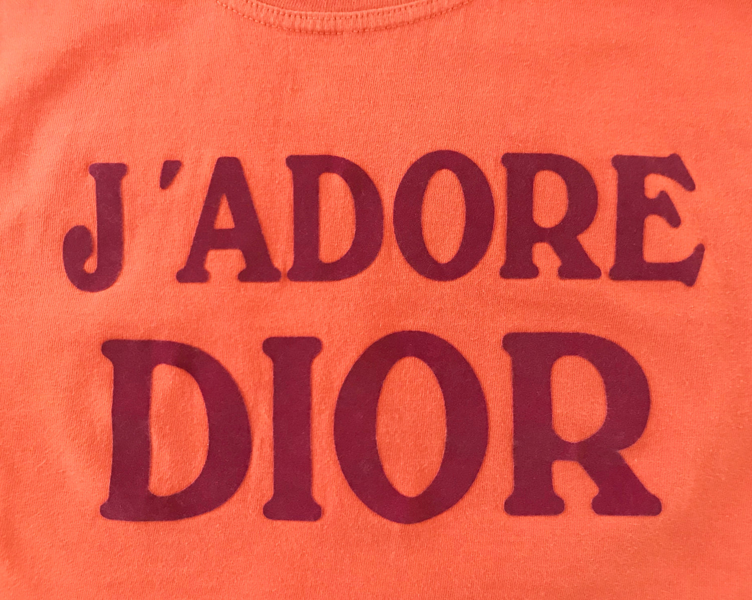 Fruit Vintage Christian Dior Orange J'adore Dior Logo Tank Top by John Galliano