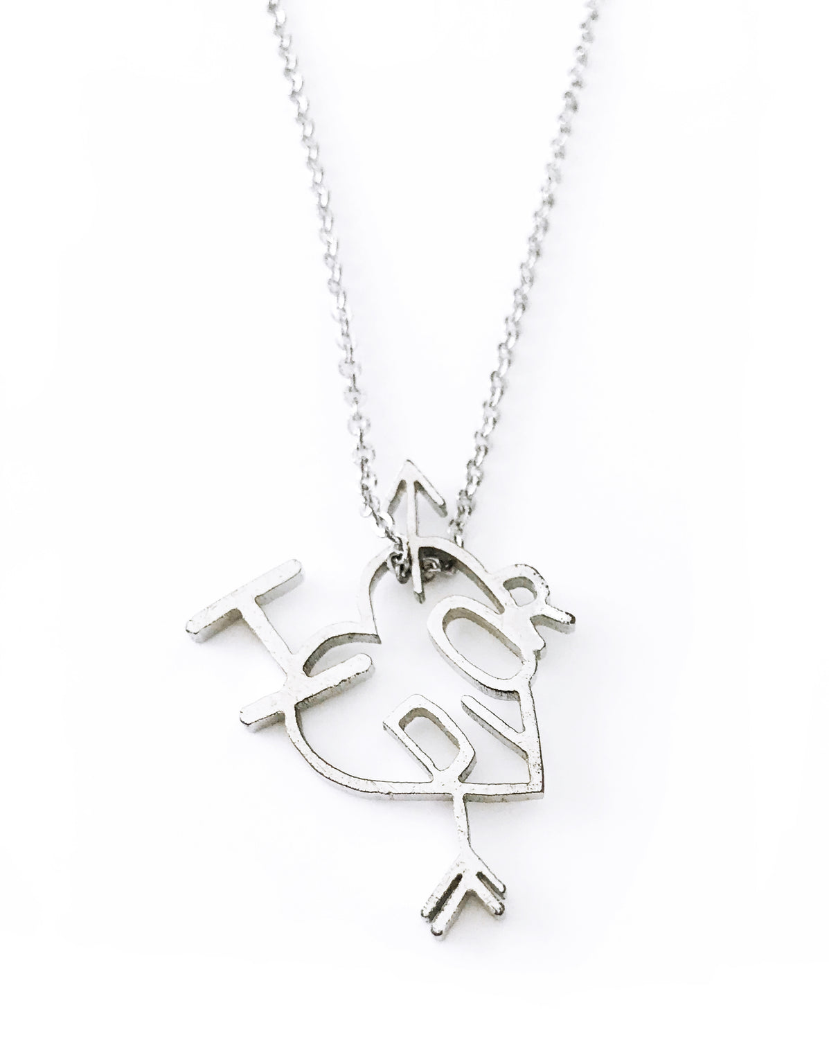 Christian Dior Heart and Arrow Necklace