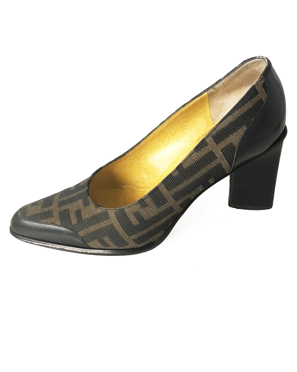 04b5f48d25d0 Fruit Vintage Fendi Zucca Print High Heel Pump Shoes