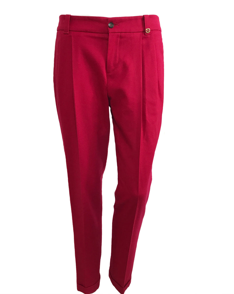 FRUIT Vintage Gucci Red Tailored Wool Pants