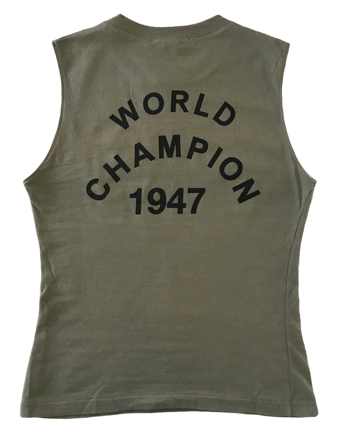 Fruit Vintage Christian Dior Khaki Green Black J'adore Dior Logo Tank Top by John Galliano