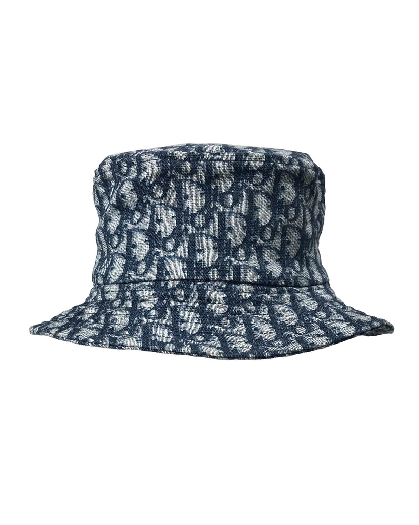 Fruit Vintage Christian Dior Blue Logo Trotter Monogram Bucket Hat by John  Galliano cc72921a1a9