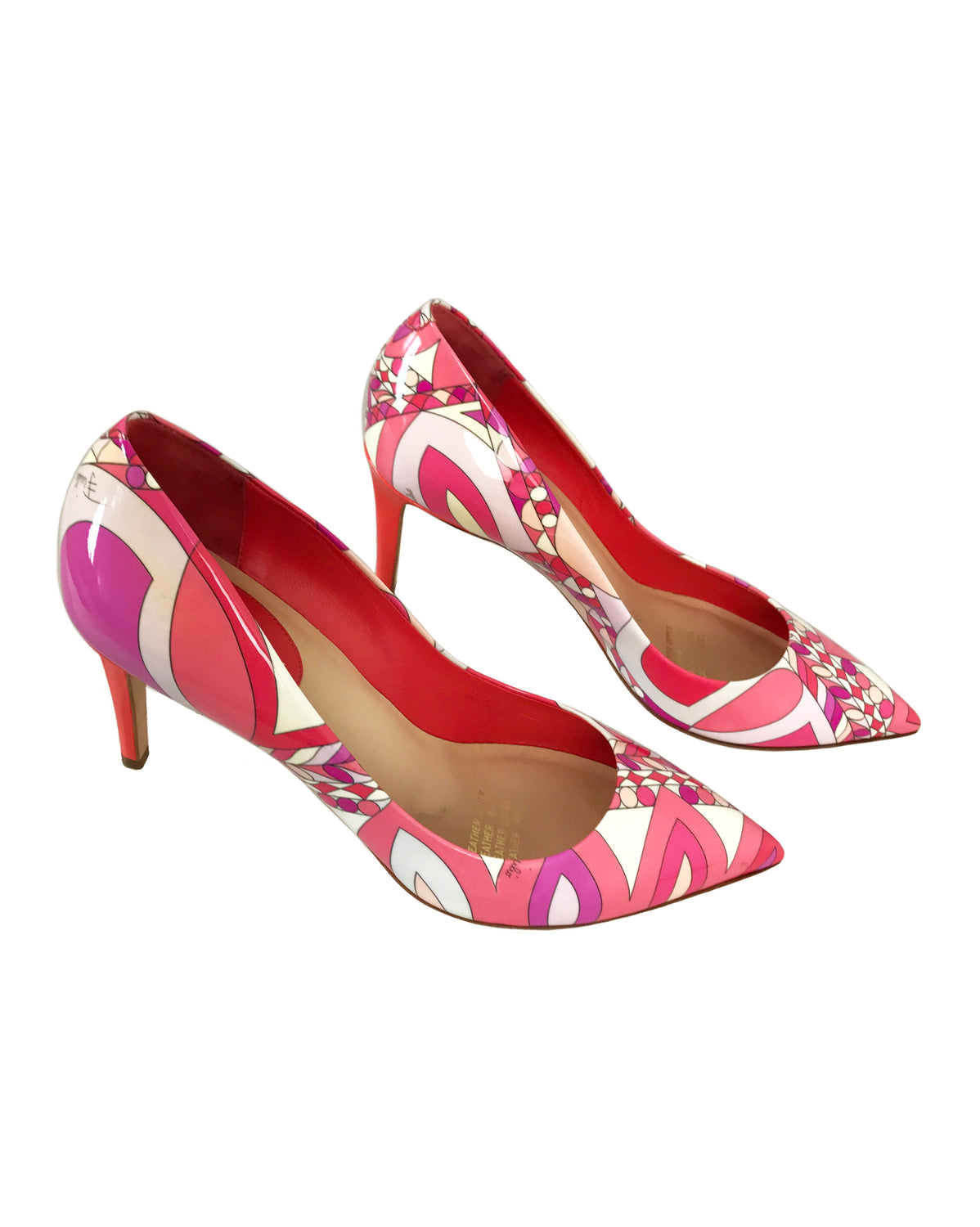 FRUIT Vintage Emilio Pucci Pink Print High Heels shoes