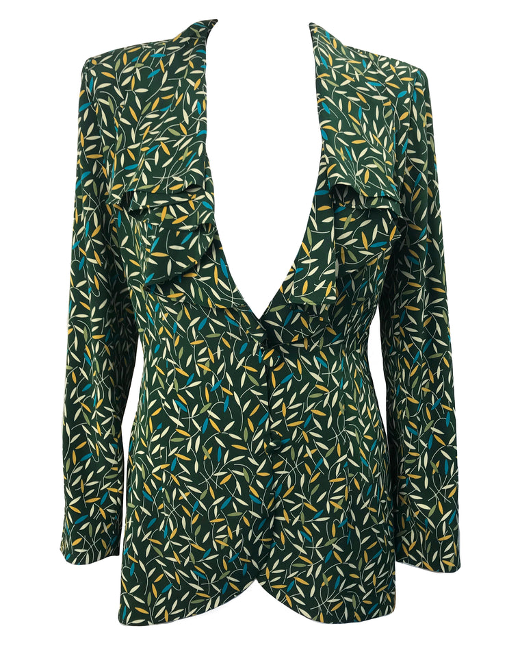 Norma Kamali Dead Stock Green Blouse
