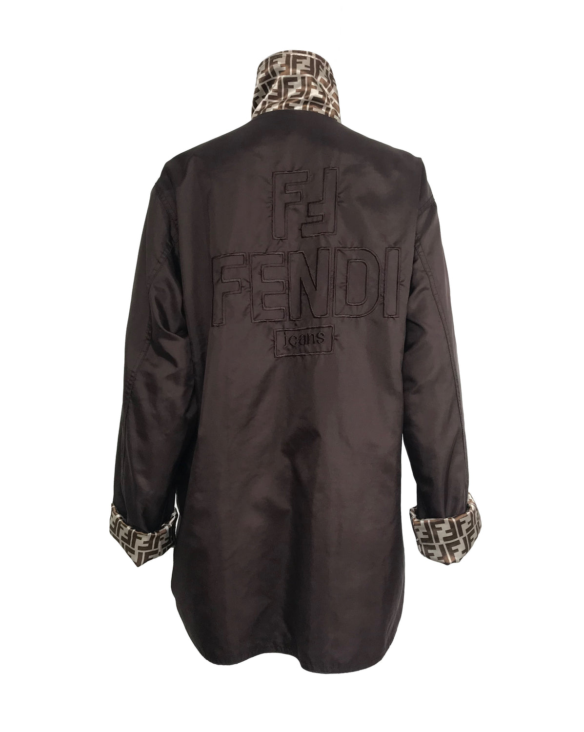 Fruit Vintage Fendi Reversible Logo Print 1990s Coat