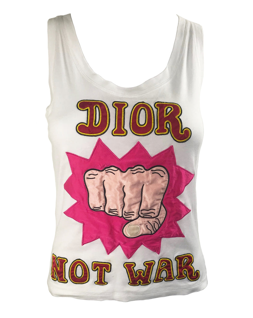 Fruit Vintage Christian Dior 'Dior Not War' Tank top by John Galliano