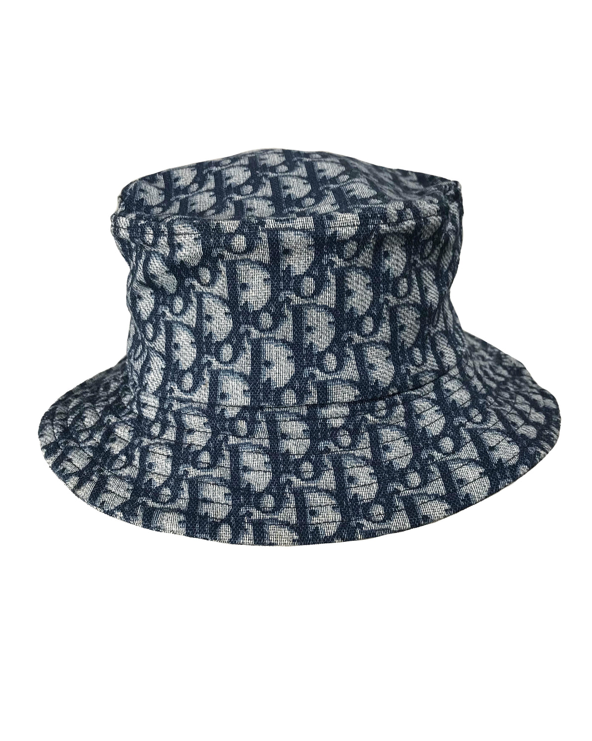 Fruit Vintage Christian Dior Blue Logo Trotter Monogram Bucket Hat by John Galliano