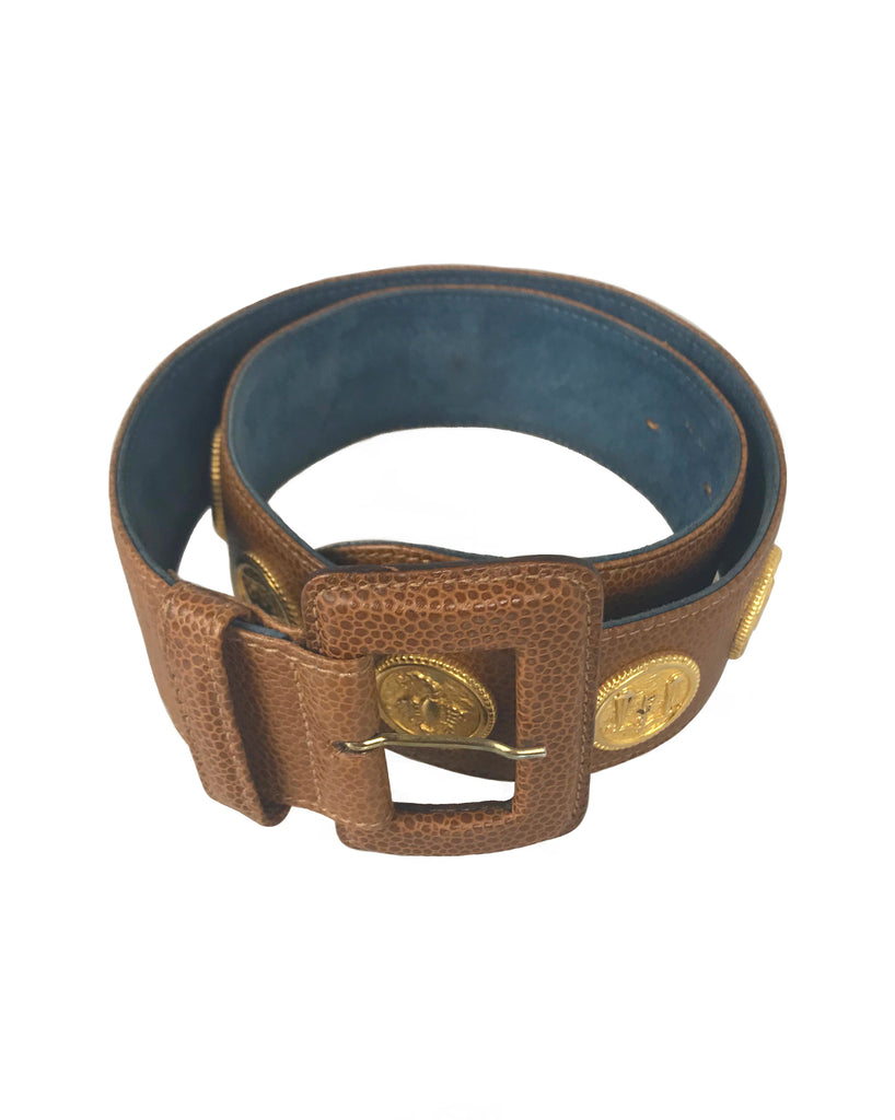 Fruit Vintage Fendi Zodiac Coin Belt