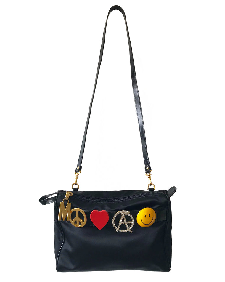 Moschino Rare Peace Love and Anarchy Cross Body bag