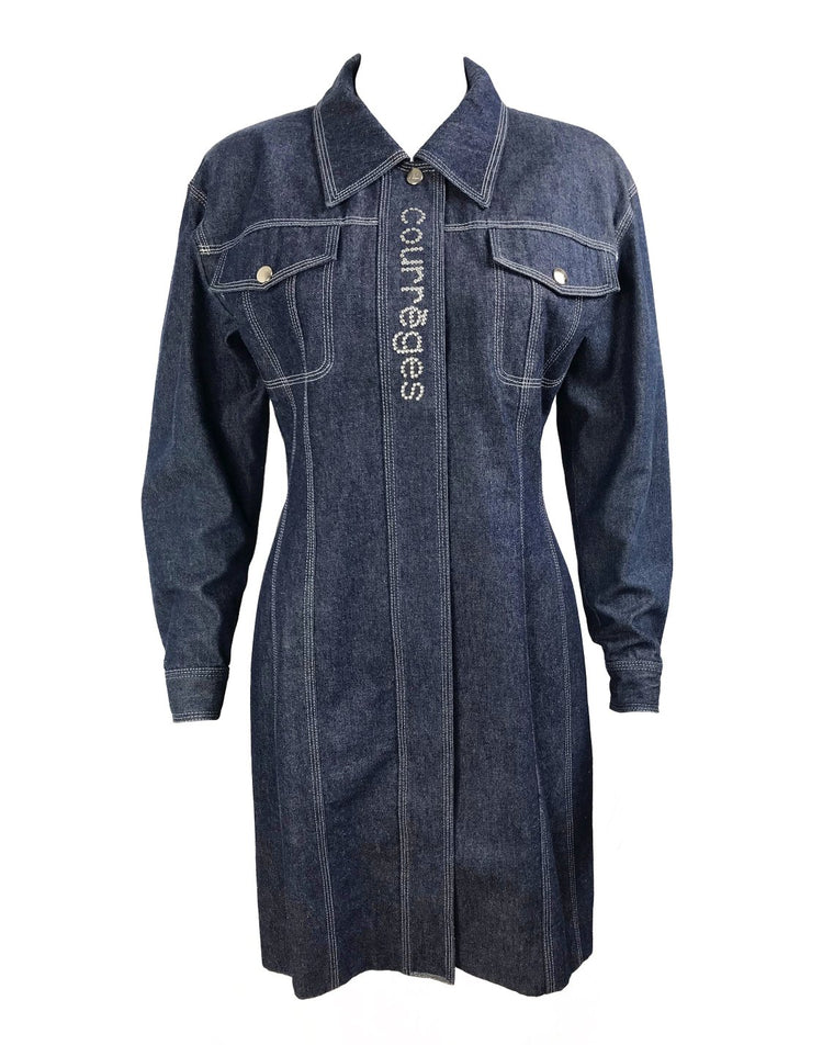 Courreges Denim Logo Dress