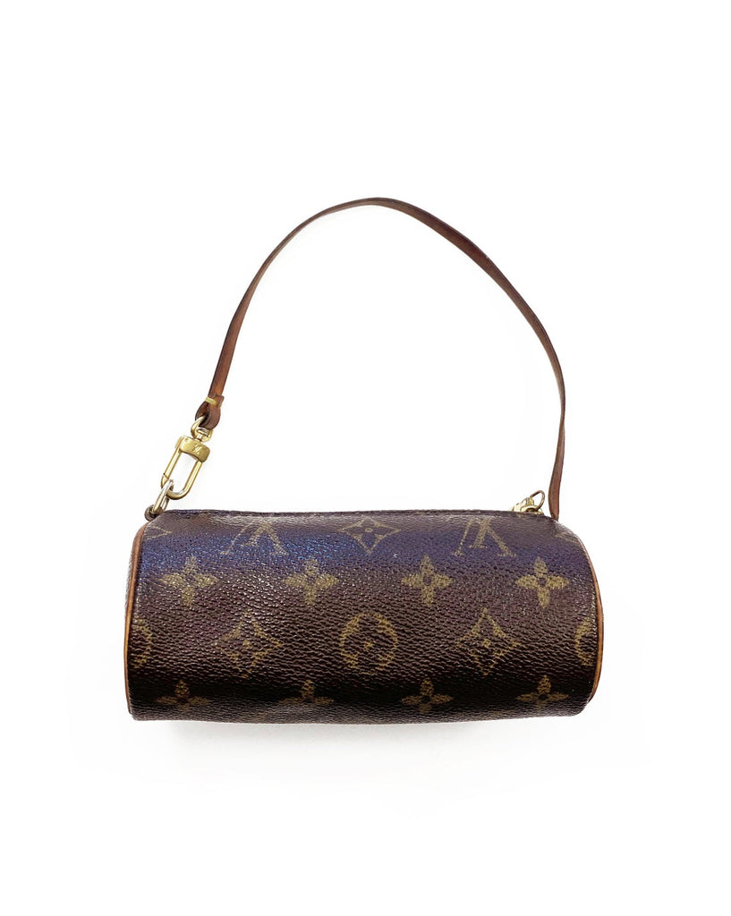 Fruit Vintage Louis Vuitton monogram mini Papillion Handbag. This incredible little gem dates to the 1990s and came as a mini bag/purse attachment inside the 90s large Papillion handbags.