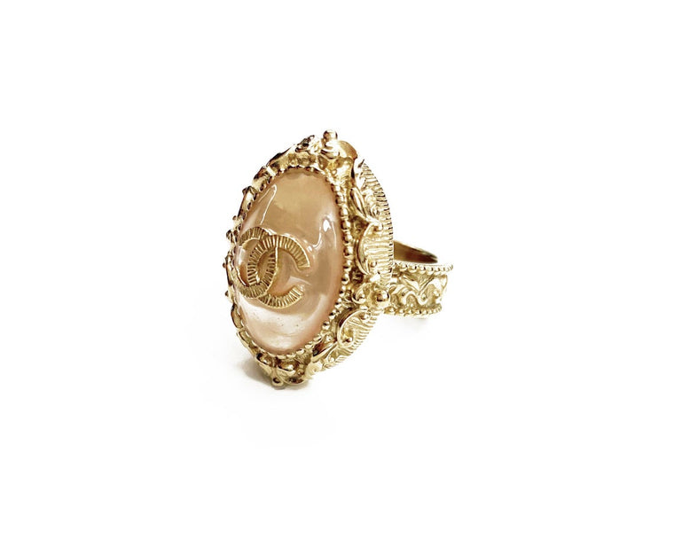 Chanel Glass Set Ring