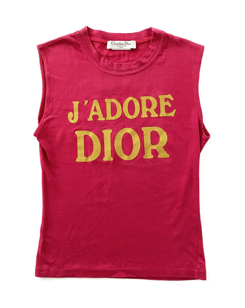Fruit Vintage Christian Dior J'adore Dior tank by John Galliano in dark pink and yellow, this classic tank is one of those iconic pieces that simply never dates (and looks incredible when styled with high waisted jeans).